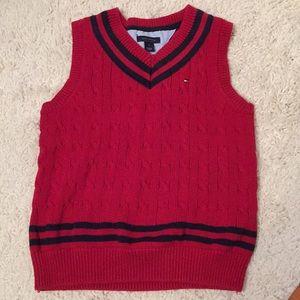 Tommy Hilfiger Boy's Size 6 Red Sweater Vest